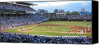 Mlb Photo Canvas Prints - Chicago Cubs Up To Bat Canvas Print by Thomas Woolworth