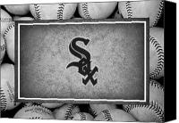 Baseball Canvas Prints - Chicago White Sox Canvas Print by Joe Hamilton