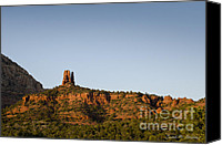 Chromatic Canvas Prints - Chimney Rock Sedona AZ Canvas Print by Dave Gordon