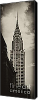 Nyc Photo Canvas Prints - Chrylser Canvas Print by Andrew Paranavitana