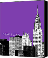 Building Digital Art Canvas Prints - Chrysler Building Canvas Print by Dean Caminiti
