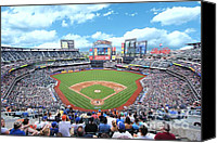 Mlb Canvas Prints - CitiField 2 Canvas Print by Allen Beatty