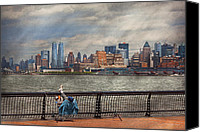 Mike Savad Canvas Prints - City - Hoboken NJ - Fishing - The good life  Canvas Print by Mike Savad