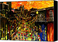 Sax Art Painting Canvas Prints - City Spectacular  Canvas Print by Mark Moore