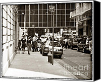City Streets Photo Canvas Prints - City Streets 1990s Canvas Print by John Rizzuto
