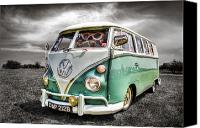 Campervan Canvas Prints - Classic VW Camper Van Canvas Print by Ian Hufton
