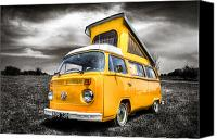 Campervan Canvas Prints - Classic VW campervan Canvas Print by Ian Hufton