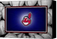 Baseball Canvas Prints - Cleveland Indians Canvas Print by Joe Hamilton