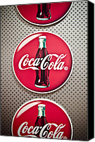 Round Special Promotions - Coca-Cola Canvas Print by Jessica Berlin