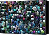 Jack Zulli Canvas Prints - Colorful Cubes Canvas Print by Jack Zulli