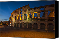 Ruin Photo Canvas Prints - Colosseum Canvas Print by Erik Brede