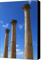Of Antioch Canvas Prints - Columns at The Ancient City of Jerash in Jordan Canvas Print by Ash Sharesomephotos