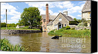 Diving Dog Canvas Prints - Cotswold Sub Aqua Canvas Print by John Chatterley