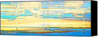 Cloud Mixed Media Canvas Prints - Coud Study 2 - Abstract Skyscape by Sharon Cummings Canvas Print by Sharon Cummings