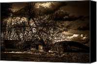 Haunted House Photo Canvas Prints - Creepy House One Canvas Print by Derek Haller