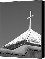 Ann Powell Canvas Prints - Cross at Mirada de Taos Canvas Print by Ann Powell