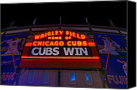 Wrigley Field Canvas Prints - Cubs Win Canvas Print by Steve Gadomski