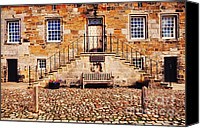 Staircase Canvas Prints - Culross Sketches 1  Scotland Canvas Print by Jenny Rainbow