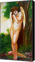Featured Pastels Canvas Prints - Cupidon by Bougoureau Canvas Print by Maria  Leah