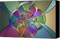 Fractal Design Canvas Prints - Curves Canvas Print by Sandy Keeton