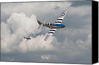 Warbird Canvas Prints - D-Day Mustangs Canvas Print by Pat Speirs