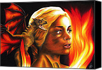 Print Special Promotions - Daenerys Canvas Print by Movie Prints
