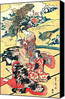Padre Art Canvas Prints - Daimyo Mansion 1801 Canvas Print by Padre Art