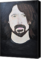 Qotsa Canvas Prints - Dave Grohl portrait Canvas Print by Paula Sharlea