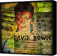 Aladdin Canvas Prints - David Bowie Canvas Print by Absinthe Art  By Michelle Scott