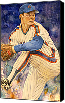 New York Mets Canvas Prints - David Cone Canvas Print by Michael  Pattison
