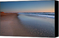 Beach Photograph Photo Canvas Prints - Daybreak On Hatteras II Canvas Print by Steven Ainsworth
