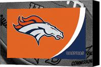 Ball Canvas Prints - Denver Broncos Canvas Print by Joe Hamilton