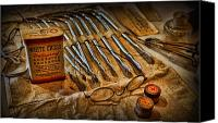 Bandages Canvas Prints - Doctor - Medical Suture Kit Canvas Print by Lee Dos Santos