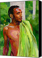 Dominican Canvas Prints - Dominican Boy with Towel Canvas Print by Douglas Simonson