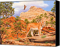 Mountain Lion Canvas Prints - Dont Move Canvas Print by Crista Forest