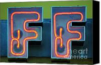 Signage Photo Canvas Prints - Double F Canvas Print by Dan Holm