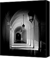 Black And White Photo Special Promotions - Down the Hall Canvas Print by Aron Kearney