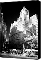 John Rizzuto Canvas Prints - Downtown Architecture 1990s Canvas Print by John Rizzuto