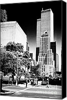 John Rizzuto Canvas Prints - Downtown Views 1990s Canvas Print by John Rizzuto