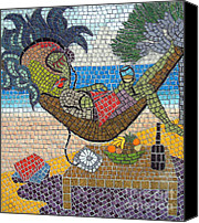 Featured Glass Art Canvas Prints - Dream Vacation Canvas Print by Birsen Ozbilge