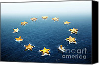 Politics Photo Canvas Prints - Drifting Europe Canvas Print by Carlos Caetano
