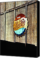 Bottle Cap Canvas Prints - Drink Pepsi Cola Canvas Print by Ron Regalado