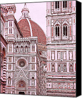 Fierenze Canvas Prints - Duomo of Florence 2 Canvas Print by Allen Beatty
