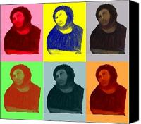 Ecce Canvas Prints - Ecce Homo - Warhol Style Canvas Print by Sam Mart