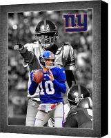 Sports Photo Special Promotions - Eli Manning Giants Canvas Print by Joe Hamilton