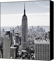 Cities Mixed Media Canvas Prints - Empire State Canvas Print by CD Kirven