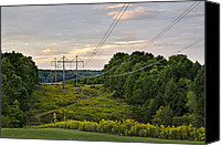 Power Lines Canvas Prints - Energy Canvas Print by Christina Rollo