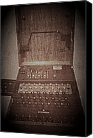 Odd Jeppesen Canvas Prints - Enigma Machine Canvas Print by Odd Jeppesen