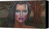 Eve Pastels Canvas Prints - Eve Was Framed feat Irina Shayk Canvas Print by D Rogale