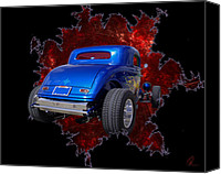 Custom Ford Digital Art Canvas Prints - Fast 33 Canvas Print by Chris Thomas